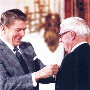 President Reagan& Raymond Weeks